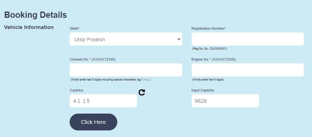 High Security Registration Plate IND Number Plate Online Registration